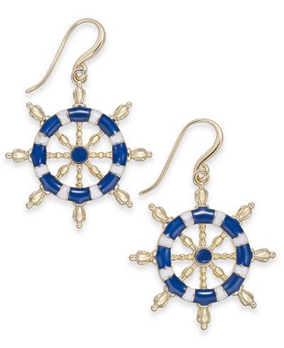 Charter Club Gold-Tone Nautical Drop Earrings, Created for Macy's