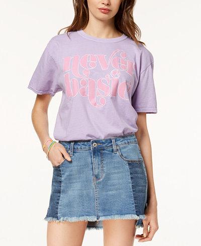 Barbie X Love Tribe Juniors' Never Basic Graphic T-Shirt