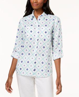 Charter Club Linen Utility Shirt, Created for Macy's thumbnail