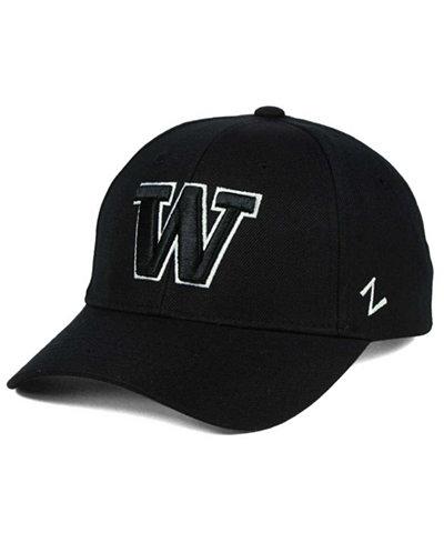 Zephyr Washington Huskies Black & White Competitor Cap