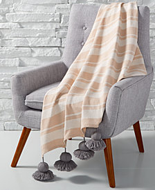 Whim by Martha Stewart Collection Tassel Throw, Created for Macy's