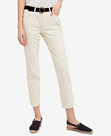 Free People Cotton Slim Boyfriend Jeans