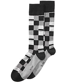 Men's Mosaic Boxes Dress Socks, Created for Macy's
