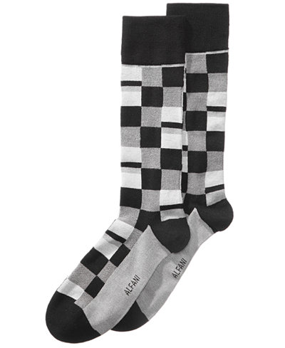 Alfani Men's Mosaic-Print Dress Socks, Created for Macy's