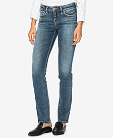 Silver Jeans Co. Juniors' Suki Curvy-Fit Straight-Leg Jeans