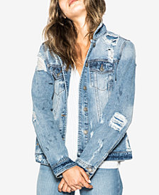 Silver Jeans Co. Sinclair Cotton Ripped Denim Jacket