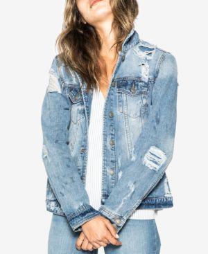 Silver Jeans Co. Sinclair Cotton Ripped Denim Jacket