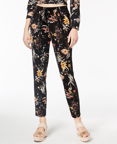 Bar III Floral-Print Sweatpants, Created for Macy's