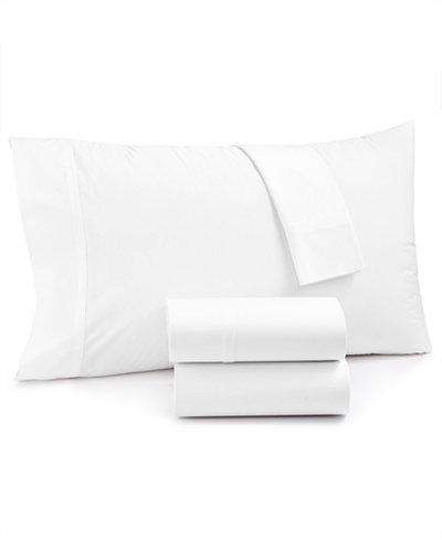 Calvin Klein White Label Vista Cotton Percale 270-Thread Count 4-Pc. King Sheet Set