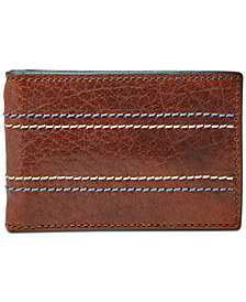Fossil Men's Reese Leather Money Clip Card Case
