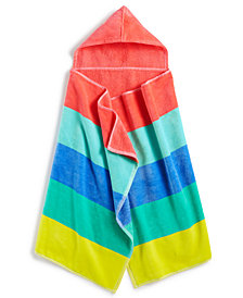 Martha Stewart Collection Kids' Printed Hooded Towel, Created for Macy's