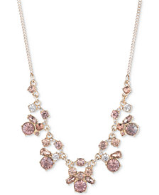 Givenchy Crystal Cluster Statement Necklace