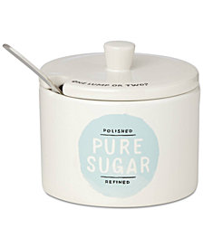 kate spade new york All in Good Taste Piping Hot Sugar Bowl with Spoon