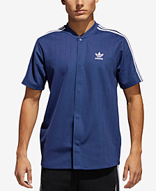adidas Men's Originals Jacquard Baseball Snap T-Shirt