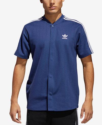 adidas Men's Originals Jacquard Baseball Snap T-Shirt
