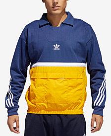 adidas Men's Drill Pullover Hybrid Sweatshirt