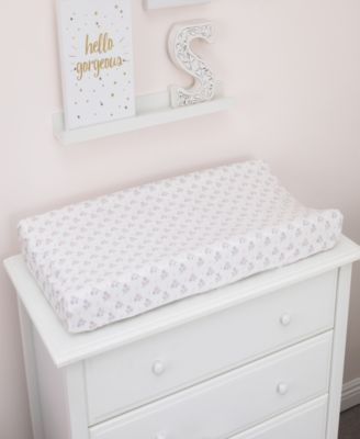 Ballerina Bows Velboa Changing Table Cover