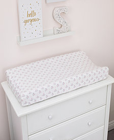 Nojo Ballerina Bows Velboa Changing Table Cover