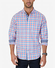 Nautical Men's Bay Plaid Pocket Shirt