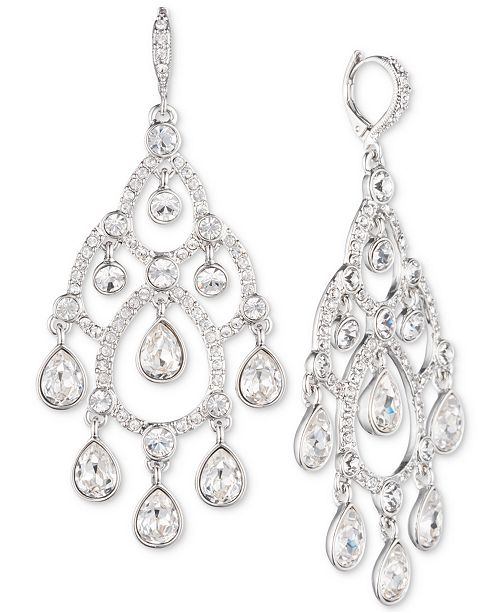 be099e210 Givenchy Silver-Tone Crystal Chandelier Earrings & Reviews - Fashion ...