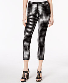 MICHAEL Michael Kors Gingham Ankle Pants, Created for Macy's