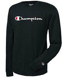 Champion Men's Long-Sleeve Logo T-Shirt