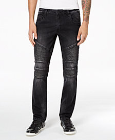 I.N.C. Men's Stretch Moto Skinny Jeans, Created for Macy's