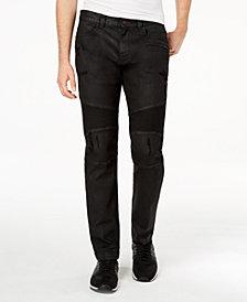 A|X Armani Exchange Men's Slim Fit Moto Jeans