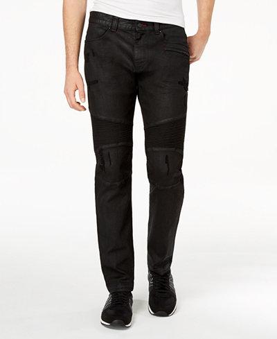 Armani Exchange Men's Slim Fit Moto Jeans