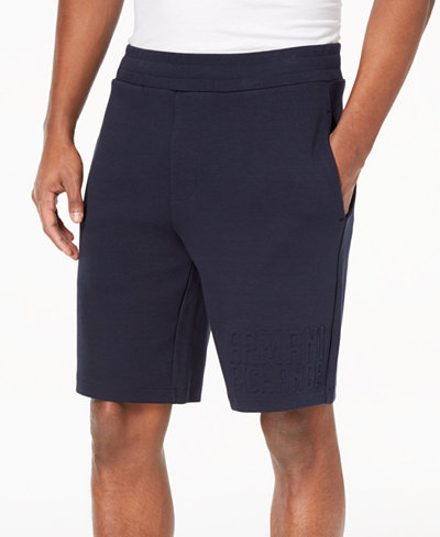 Armani Exchange Men's Embossed-Logo Sweatshorts
