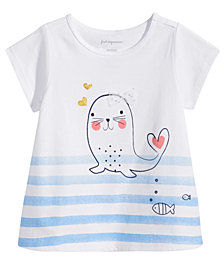 First Impressions Seal Graphic-Print T-Shirt, Baby Girls, Created for Macy's