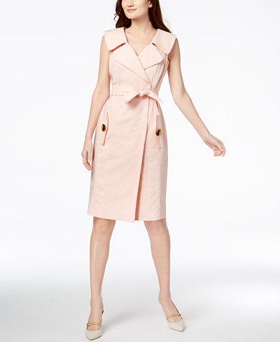 Calvin Klein Cotton Belted Shirtdress
