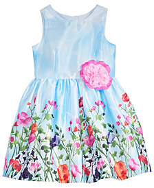 Marmellata Floral Border-Print Dress, Little Girls