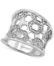 EFFY® Diamond Honeycomb Openwork Ring (1/4 ct. t.w.) in Sterling Silver