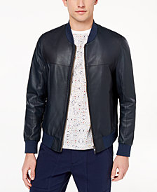 Daniel Hechter Paris Men's Ajax Leather Bomber Jacket