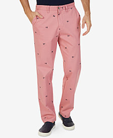 Nautica Men's Classic-Fit Stretch Graphic-Print Deck Pants