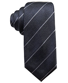 Alfani Men's Slim Stripe Silk Slim Tie, Created for Macy's