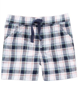 First Impression Plaid Cotton Shorts, Baby Boys