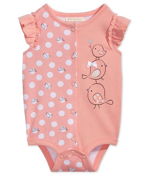 4d64bf045 First Impressions Bird Graphic-Print Cotton Bodysuit