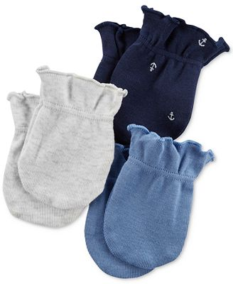 Carter's 3-Pack Cotton Mittens, Baby Boys