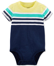 Carter's Striped T-Shirt Cotton Bodysuit, Created for Macy's