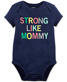 Carter's Strong Like Mommy Graphic-Print Bodysuit, Baby Girls