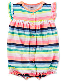 Carter's Rainbow Stripe Romper, Baby Girls