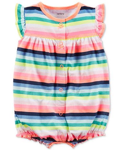 Carter's Rainbow Stripe Romper, Baby Girls