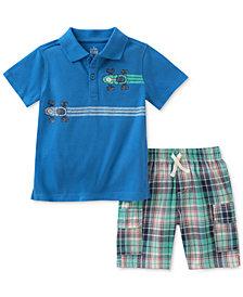 Kids Headquarters Cotton Polo & Shorts Set, Baby Boys