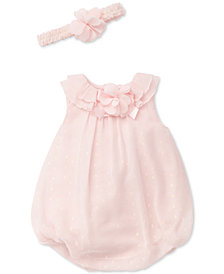 Little Me 2-Pc. Sparkle Bubble Romper & Headband Set, Baby Girls