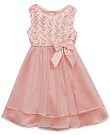 Rare Editions Basket Weave Dress, Baby Girls