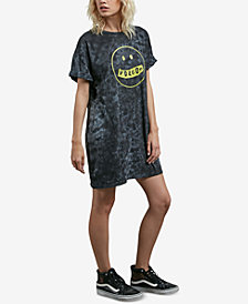 Volcom Juniors' Cotton Screen-Print T-Shirt Dress