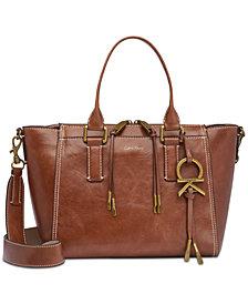 Calvin Klein Brynn Leather Satchel
