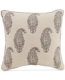 "Vera Bradley Gray Paisley 16"" Square Decorative Pillow"